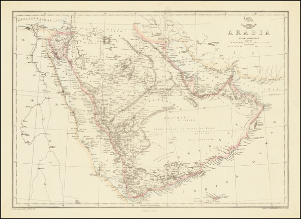 41-Middle East and Arabian Peninsula Map By Edward Weller