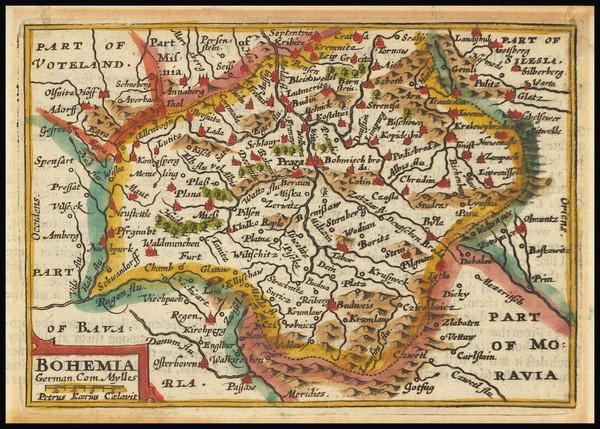 1-Czech Republic & Slovakia Map By John Speed