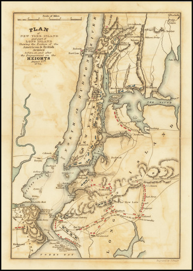 36-New York City and New York State Map By James Yeager