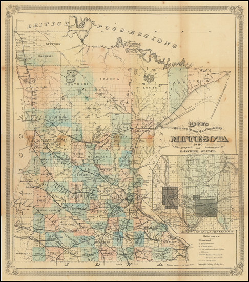 75-Minnesota Map By G. Jay Rice