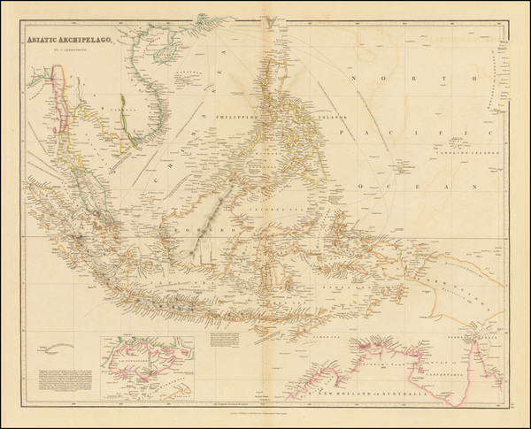 86-Southeast Asia, Philippines, Singapore, Indonesia and Malaysia Map By John Arrowsmith