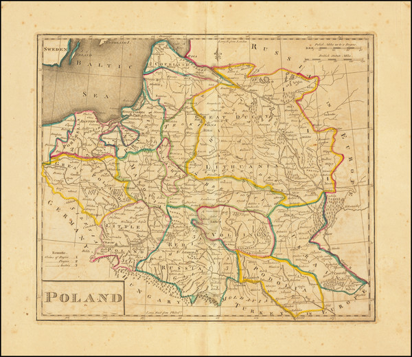 95-Poland and Baltic Countries Map By Mathew Carey