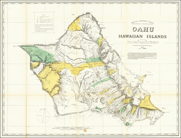 8-Hawaii and Hawaii Map By Hawaiian Government Survey / Richard Covington