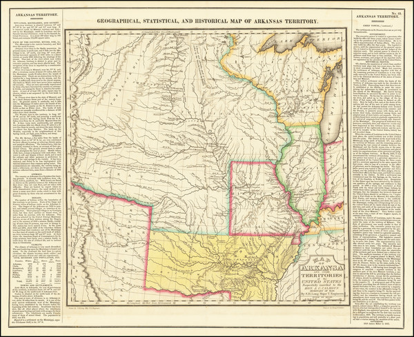 80-Arkansas, Texas, Midwest, Plains, Missouri, Southwest and Rocky Mountains Map By Henry Charles