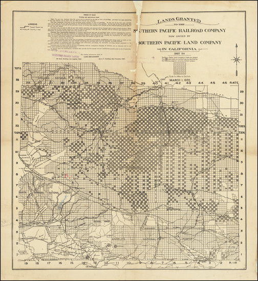 28-California Map By Southern Pacific Land Company