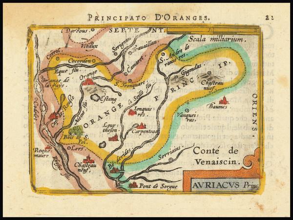 10-France Map By Abraham Ortelius / Johannes Baptista Vrients