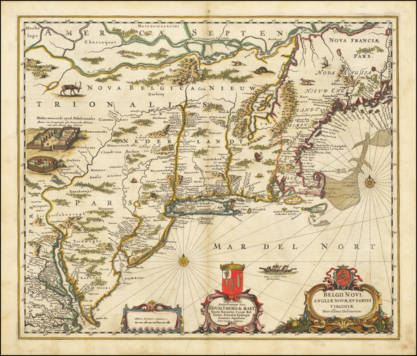 34-New England, New York State and Mid-Atlantic Map By Jan Jansson