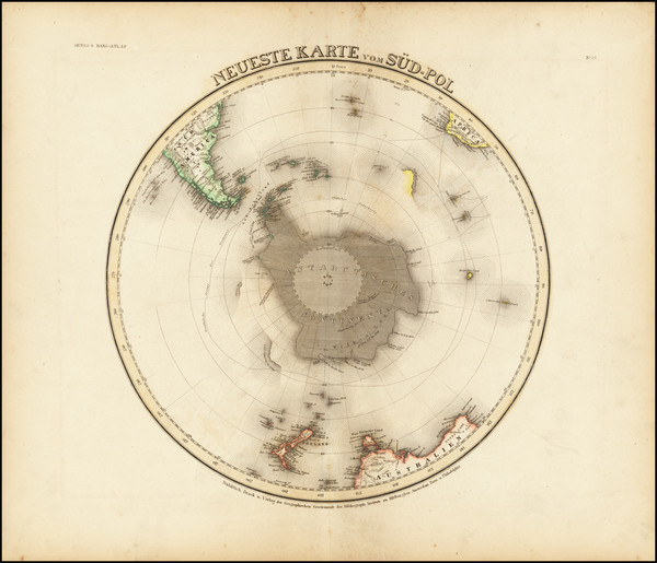 64-Southern Hemisphere and Polar Maps Map By Joseph Meyer