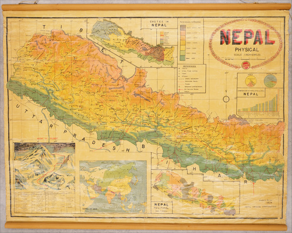 14-China, India and Central Asia & Caucasus Map By Nepal Trading Company