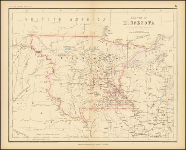 19-Midwest, Minnesota, Plains, North Dakota and South Dakota Map By Henry Darwin Rogers  &  Al