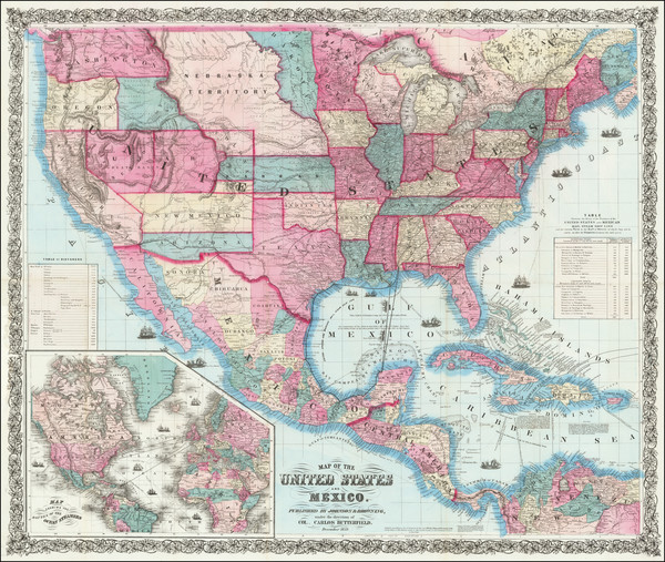 44-United States and Colorado Map By Alvin Jewett Johnson  &  Browning