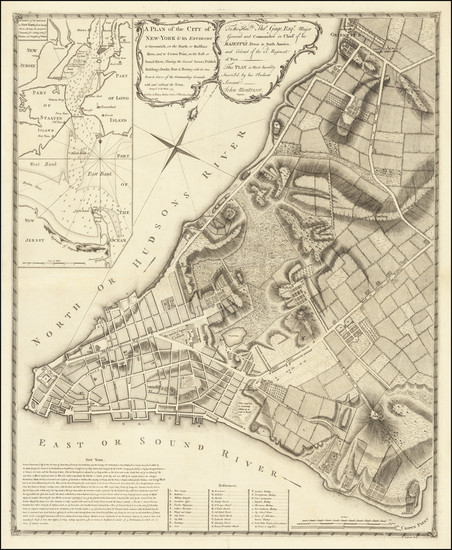 77-New York City Map By John Montresor