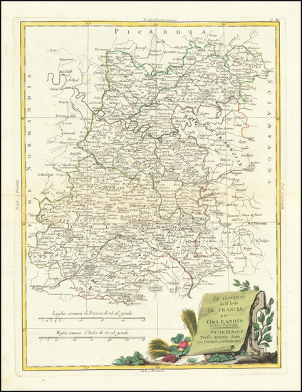 97-France Map By Antonio Zatta