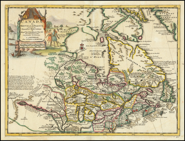 7-Midwest, Canada and Eastern Canada Map By Giambattista Albrizzi