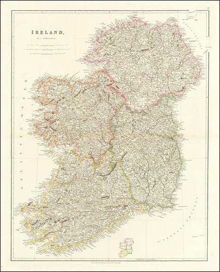 70-Ireland Map By John Arrowsmith