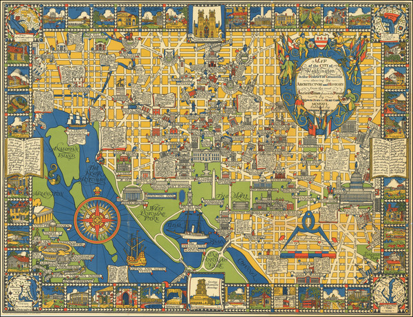 95-Washington, D.C. and Pictorial Maps Map By Edwin Olsen  &  Blake Clark