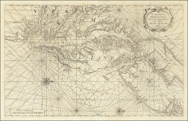 14-Mid-Atlantic, Maryland, Delaware, Southeast and Virginia Map By William Mount  &  Thomas Pa