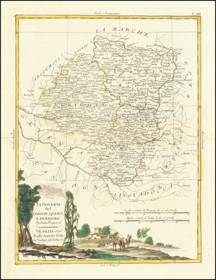 30-France Map By Antonio Zatta