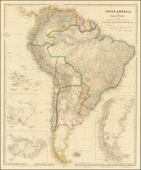 100-South America and Peru & Ecuador Map By John Arrowsmith