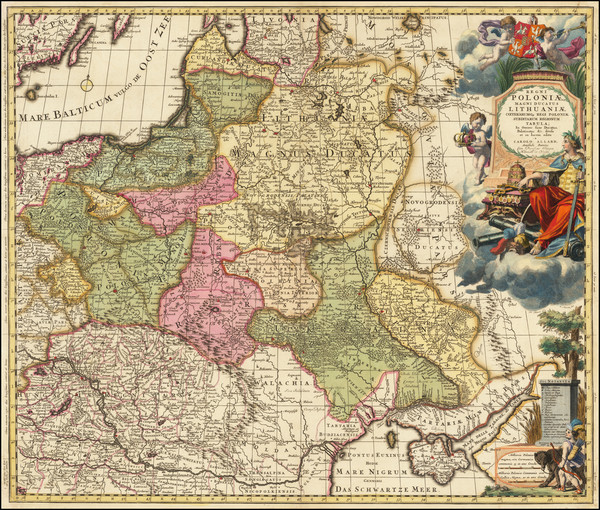 31-Poland and Baltic Countries Map By Carel Allard