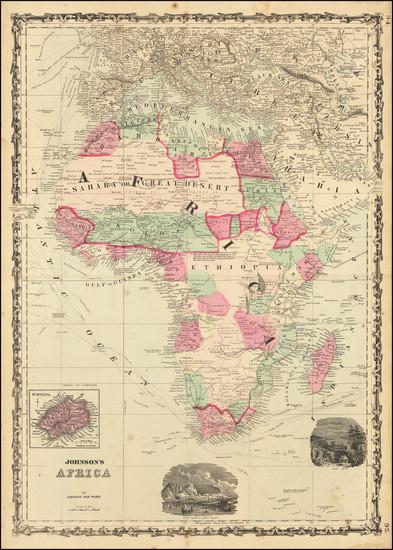1-Africa Map By Alvin Jewett Johnson  &  Benjamin P Ward