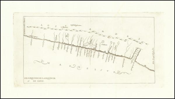 58-Chile Map By Antonio de Herrera y Tordesillas