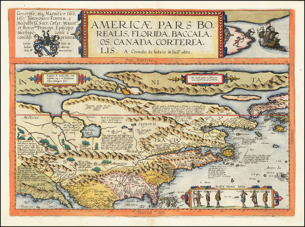 51-United States and North America Map By Cornelis de Jode