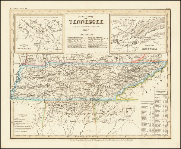 67-Tennessee Map By Joseph Meyer