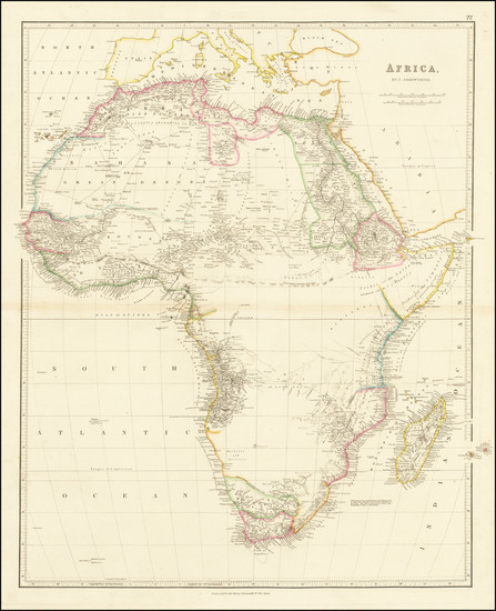 99-Africa Map By John Arrowsmith