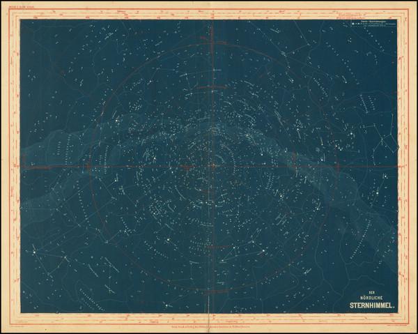 80-Celestial Maps Map By Joseph Meyer / E.G. Ravenstein