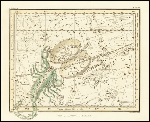 82-Celestial Maps Map By Alexander Jamieson