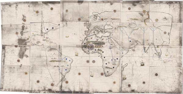 43-World Map By Girolamo de Verrazano