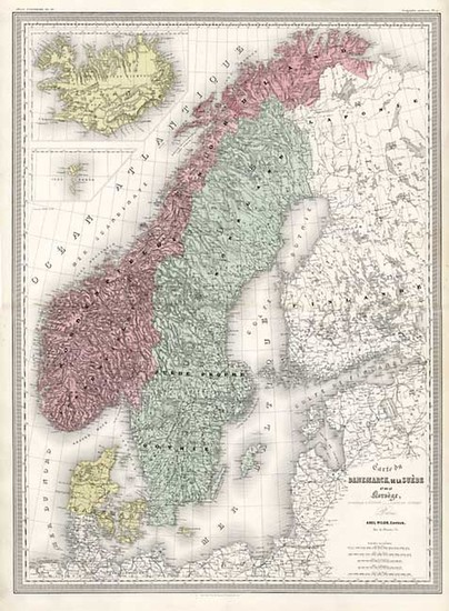 30-Europe and Scandinavia Map By Adolphe Hippolyte Dufour
