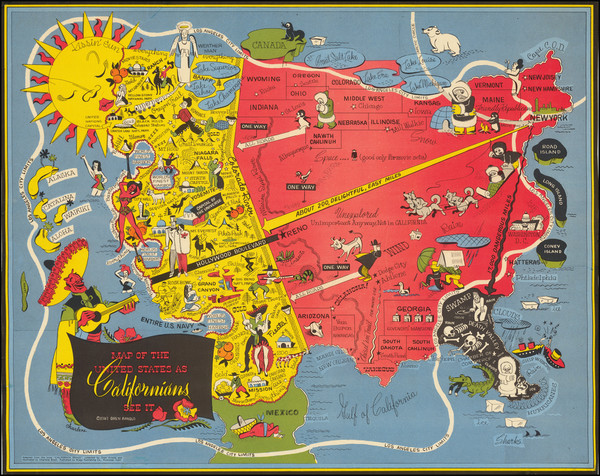 67-Pictorial Maps and California Map By Oren Arnold