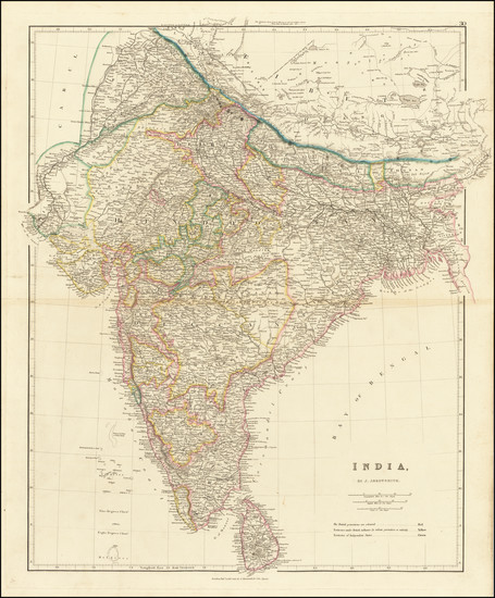 20-India Map By John Arrowsmith