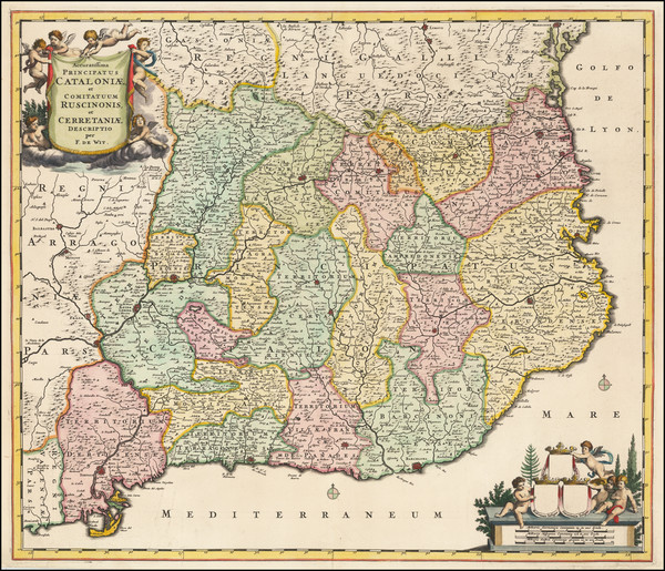 0-Spain Map By Frederick De Wit