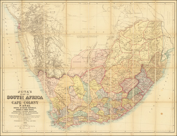 25-South Africa Map By Edward Stanford / J.C. Juta