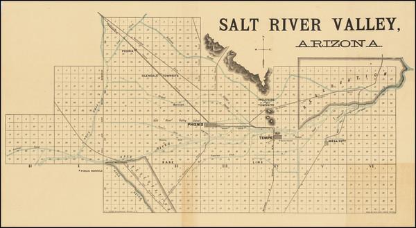62-Arizona Map By Rand McNally & Company