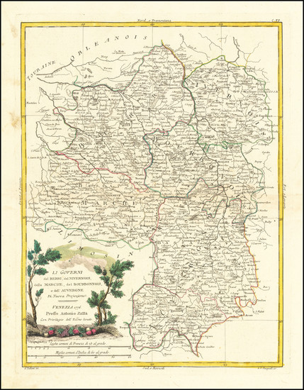 5-France Map By Antonio Zatta