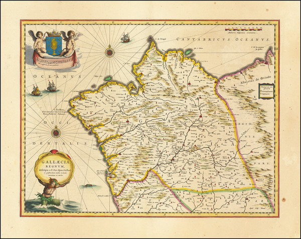 47-Spain Map By Willem Janszoon Blaeu