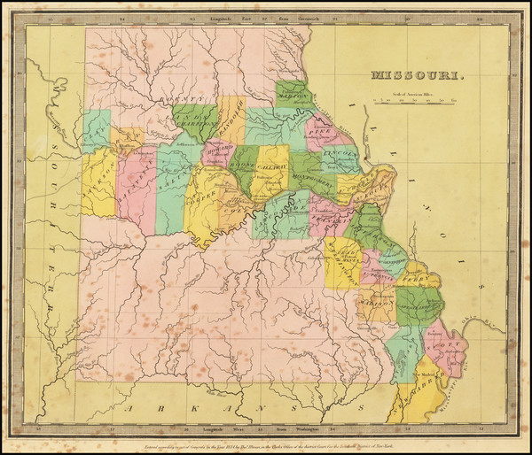 88-Missouri Map By David Hugh Burr
