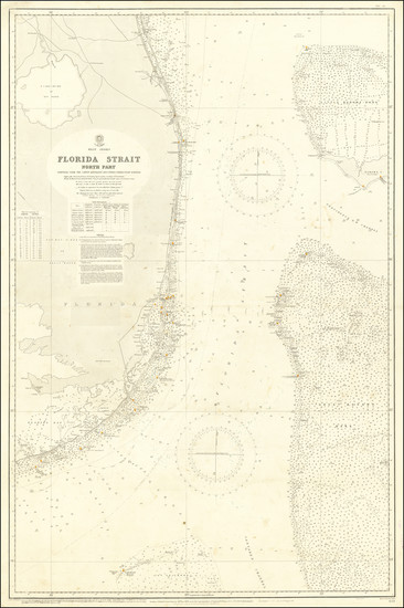 39-Florida and Bahamas Map By British Admiralty