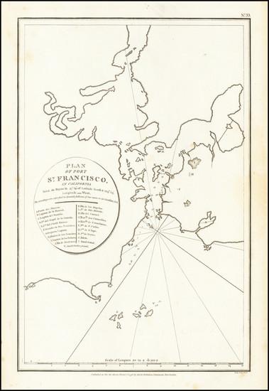 89-San Francisco & Bay Area Map By Jean Francois Galaup de La Perouse / G. Robinson