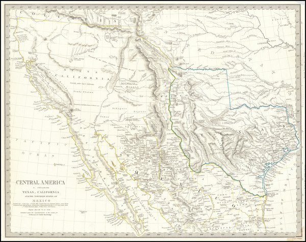55-Texas, Southwest, Rocky Mountains and California Map By SDUK