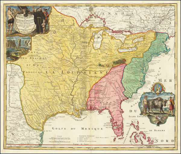 5-United States, South, Southeast, Texas, Midwest, Plains and Southwest Map By Johann Baptist Hom
