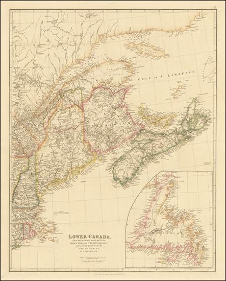 20-New England, Maine and Canada Map By John Arrowsmith