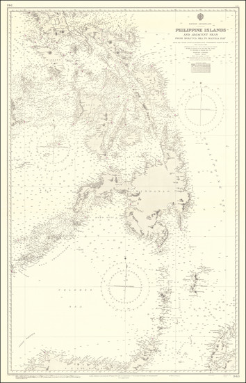 97-Philippines Map By British Admiralty
