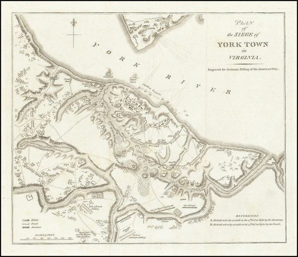 84-Virginia and American Revolution Map By Charles Stedman