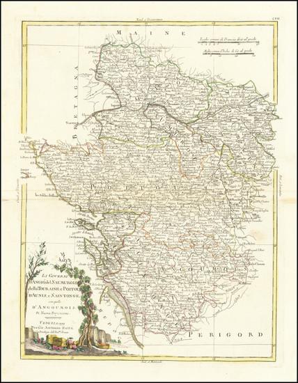 54-France Map By Antonio Zatta