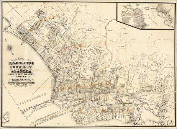 75-Other California Cities Map By Malcolm G. King